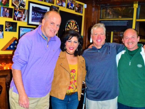 President WPOA, Gerry Kelly, Vice President RoseAnn Vernice, Partner of Doc O'Gradys and former All-American lacrosse player Tim Worstell and Director of WPOA Nick Vernice share a memory!